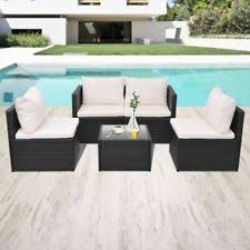 rattan lounge sofa vidaxl rattan wicker lounge sofa set outdoor seat furniture with