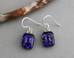 purple drop earrings purple drop earrings etsy
