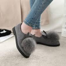maternity shoes wholesale fashion warm hair rabbit ear lazy shoe flat