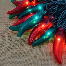 red chili pepper lights red and green chili pepper string lights 35 lights
