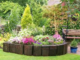 raised flower garden beds of the gardens and was flowering