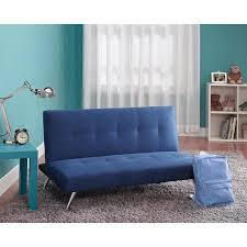 Junior Futon Sofa Bed Piccolo Junior Microfiber Sofa Lounger New Blue Walmart Com