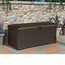 wicker patio storage furniture wicker suncast deck box ideas in brown for outdoor