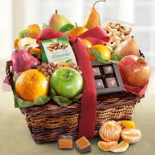 gourmet basket orchard delight fruit and gourmet basket aa4094 a gift inside