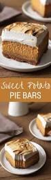 sweet potato pie bars handle the heat