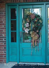 Teal Front Door by Furniture Foxy Small Colorful Front Porch Decoration Using Round