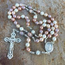 pearl rosary pastel shell pearl rosary heavenlybound
