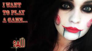 halloween makeup women jigsaw saw movie halloween makeup tutorial natalie fox
