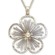 gold flower pendant necklace images Tri color flower pendant 10k gold