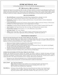 Mit Sample Resume by Example Information Technology Research Resume Sample