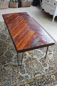 Homemade Wood Table Top by Herringbone Table Top With 2x4 Blocks Workshop Workin It Out