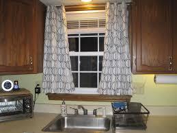 fine diy kitchen window curtains modern ideas o intended decorating