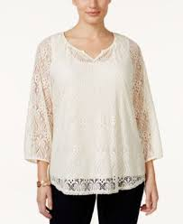 peasant blouse plus size style co plus size lace peasant blouse only at macy s tops