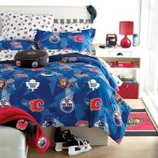 Hockey Bedding Set Hockey Bedding For Boys And Nhl Hockey Montage 3pc Bed