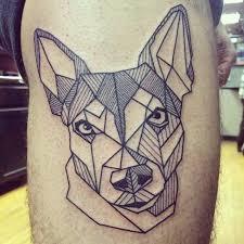 tattoo geometric outline 8 wonderful dog tattoos on thigh