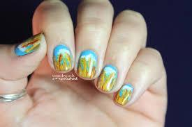 wondrously polished 31 day nail art challenge day 3 yellow