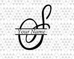 monogram letter s split monogram s etsy