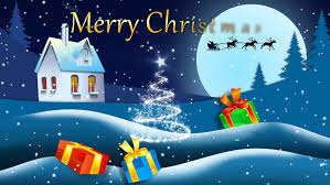 animated christmas card marry christmas and happy new year stock