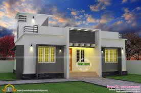 flat roof single floor home with stair room kerala home single