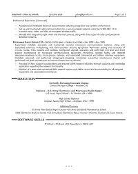 Test Engineer Resume Objective Field Test Engineer Sample Resume Haadyaooverbayresort Com