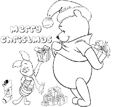 winnie pooh merry christmas coloring christmas coloring