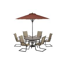 hexagon patio table and chairs shop garden treasures hayden island glass top brown hexagon patio