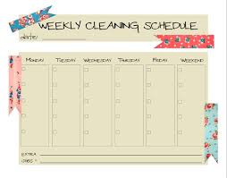 25 unique cleaning schedule templates ideas on pinterest weekly
