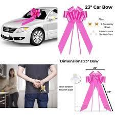 car bow ribbon large pink car bow ribbon big christmas gifts wedding