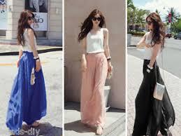 bd women u0027s wide leg loose chiffon gauze long dress pants lady