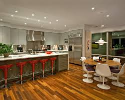 beautiful round kitchen island ideas with white chairs marble