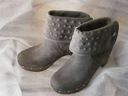 womens ugg lynnea boots ugg lynnea boots charcoal gray suede studs s eu 36 us