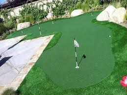 Artificial Backyard Putting Green by Artificial Grass Carpet Hubbard Oregon How To Build A Putting