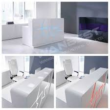 White Salon Reception Desk Popular High Gloss Reception Desk White Salon Reception Desk White