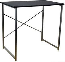 Small Computer Desk Tesco Buy Harbour Housewares Computer Laptop Wooden Desk Black From