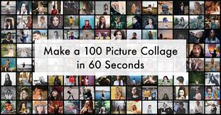 make a 100 photo collage in 60 seconds turbocollage