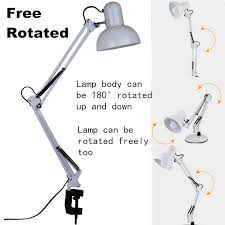 Swing Arm Desk Lamp With Clamp Swing Adjustable Swing Arm Desk Lamp White Clamp On Study Artist
