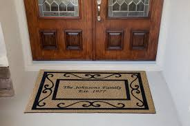 Outdoor Front Door Rugs Custom Entry Mats Residential Personalized Door Etsy Welcome Mat