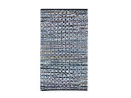 Esszimmerst Le Leder Blau Teppich Blau 80x150 Cm Baumwolle Läufer Vorlage