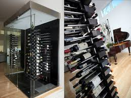 turning closet into bar glass wine cellar enclosures furniture cabinets with cooler for