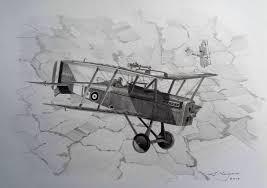 se5a pencil drawing aviation art