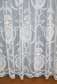 holly white lace panel woodyatt curtains stock