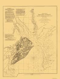 Map Of Beaufort Sc Old Map Hilton Head Island South Carolina Ship Channel
