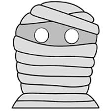 halloween mummy mask paper craft instructions