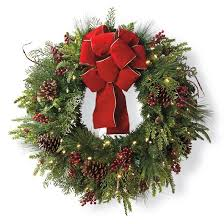 cheer cordless wreath with bow frontgate