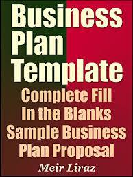 amazon com business plan template complete fill in the blanks