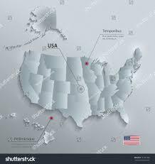 usa map alaska usa map alaska hawaii separate states stock vector 751227289