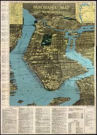 A Map Of New York City by Panoramic Map Of New York U2014 Eightface