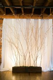 forest inspired indoor wedding indoor wedding backdrops and
