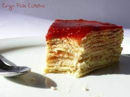 eryn folle cuisine gâteau de crêpes à la crème d amandes et au caramel de framboises