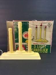 noma 3 light candolier christmas window sill light usa original
